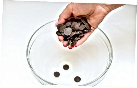 Carmel en chocolade afgebroken snoepjes