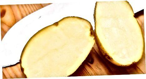 تمیز کردن با سیب زمینی و جوش شیرین