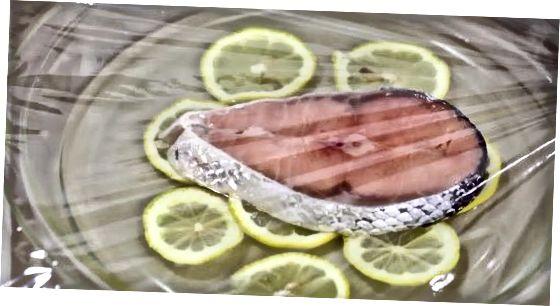 Povandeninė lašiša su mikrobangomis