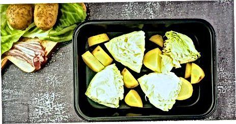 Bratkartoffeln mit Kohl