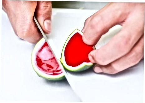 Naudojant arbūzų želatiną