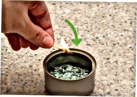 Antes de começar: Acender o queimador de fondue