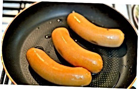 Pan-Frying Knockwurst