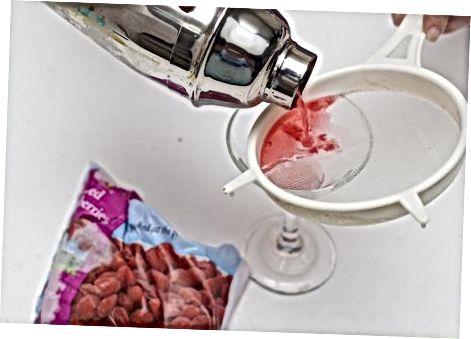 Yangi malina bilan malina Martini qilish