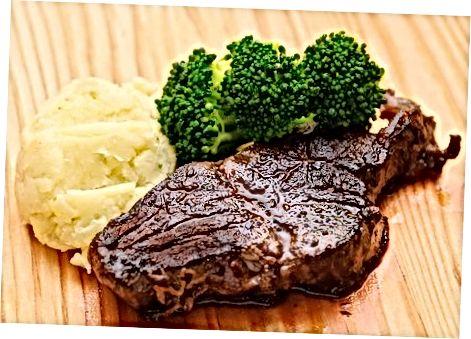 Das Steak kochen