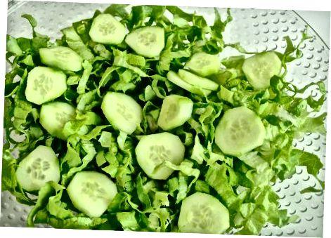 Preparando a Salada