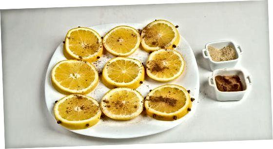 חיתוך והכנת פרוסות תפוז טרי