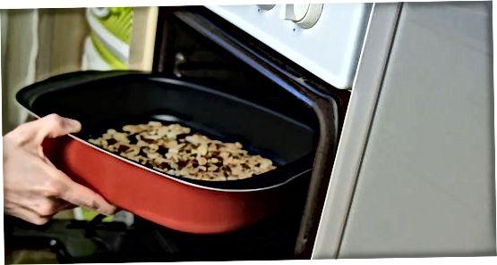 Utilitzant un forn de torradora