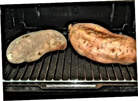 Druga metoda: naložen pečen sladki krompir