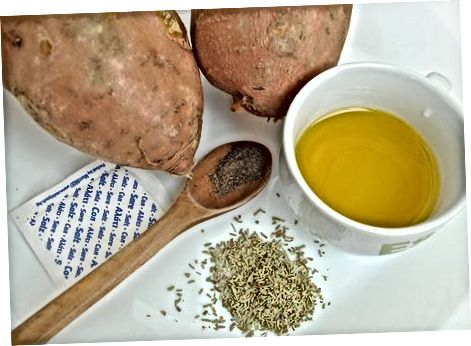 Tretja metoda: Pečen sladki krompirjev krompirček
