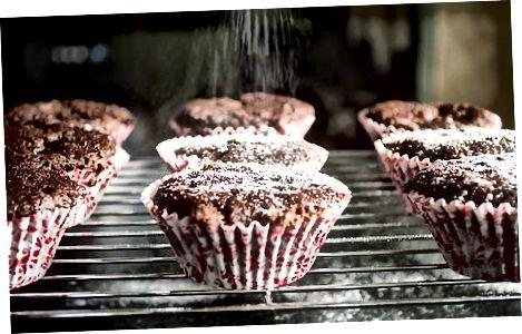 Chocolade en banaan muffins