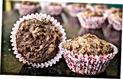Chocolade ananas banaan muffins