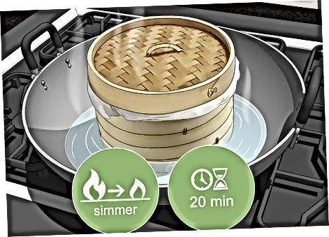 Përdorimi i një Steamer Bamboo për të përgatitur dhe ngrohur orizin