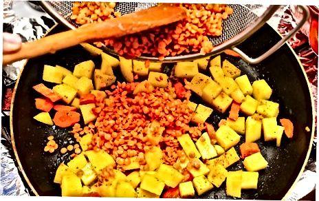 Rote Linsen Curry machen