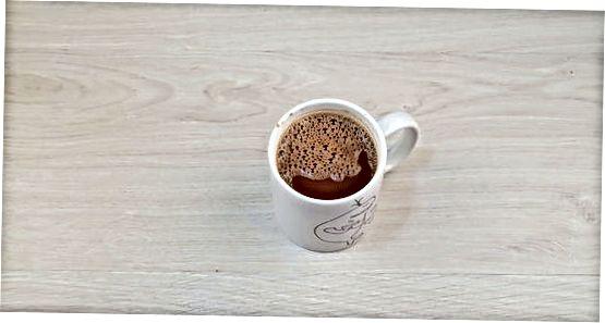 Warme chocolademelk gekookt water Mix