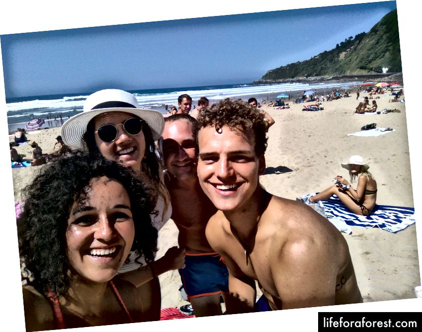 เพื่อนจากหลักสูตรภาษาสเปนจากลอนดอนอิตาลีและเยอรมนี