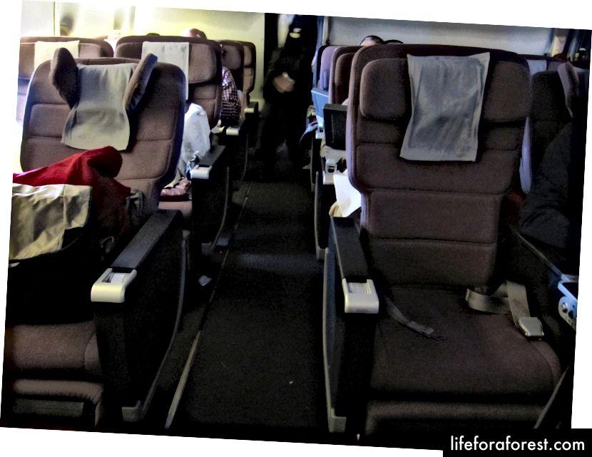 Qantas 747 Birinci Sınıf Ekonomiye genel bakış