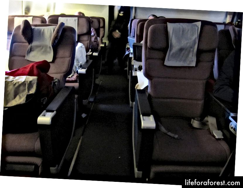 Qantas 747 Premium Economy-oversikt