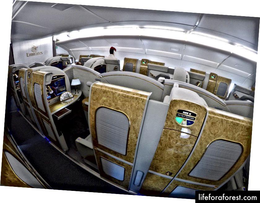 Emirates A380 Trans-Tasman First Class-oversikt