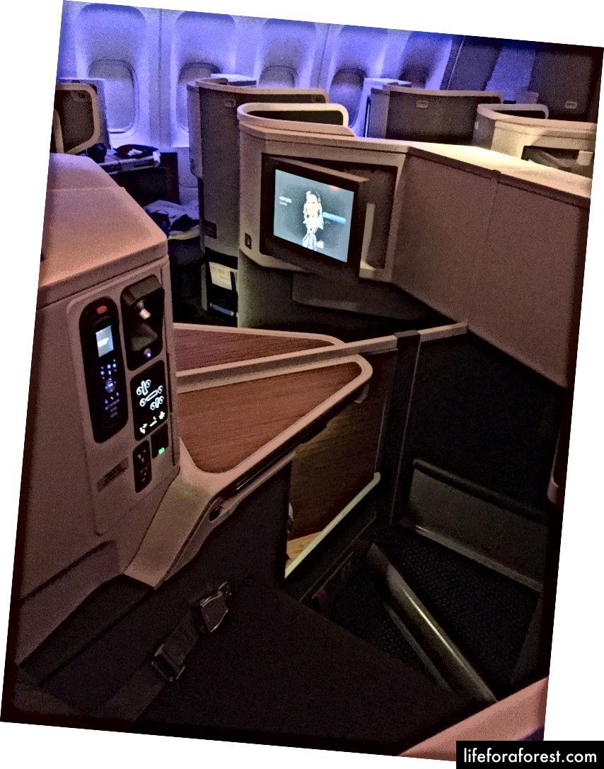 AAs sete 777–300ER Business Class er overlegen Qantas A380-produkt