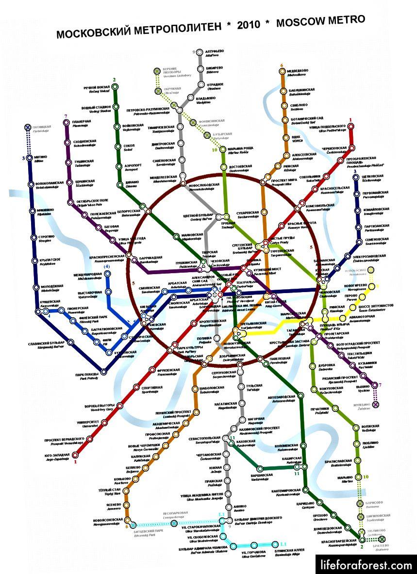 Moskva tunnelbanekart