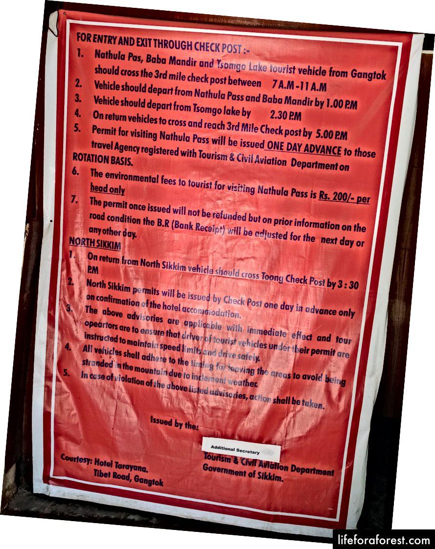 Інформація з туристичного центру на MG Marg.