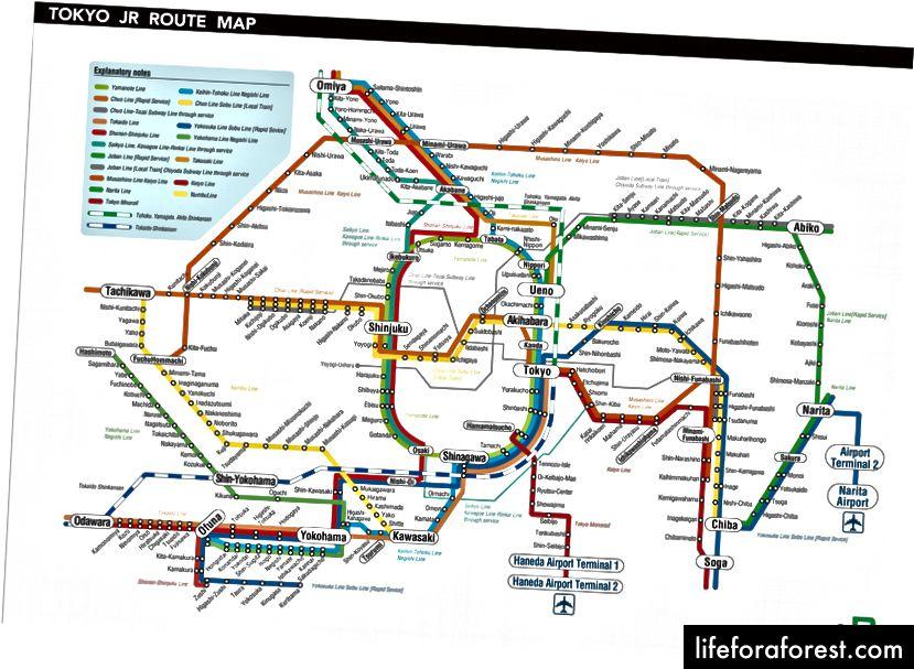 Rozkład jazdy pociągów JR