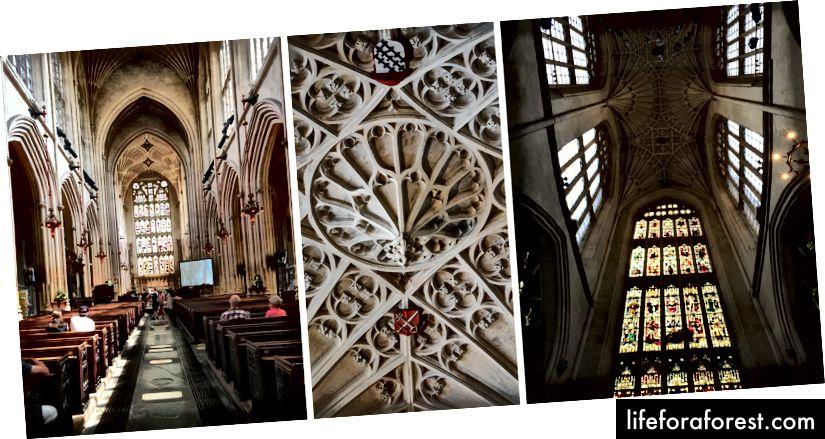 Inside Bath Abbey (ikke-flash fotografering er tillatt)