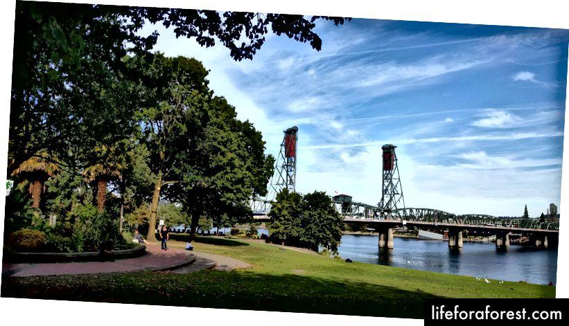 Portlands 8 köprülerinden 1 tanesi