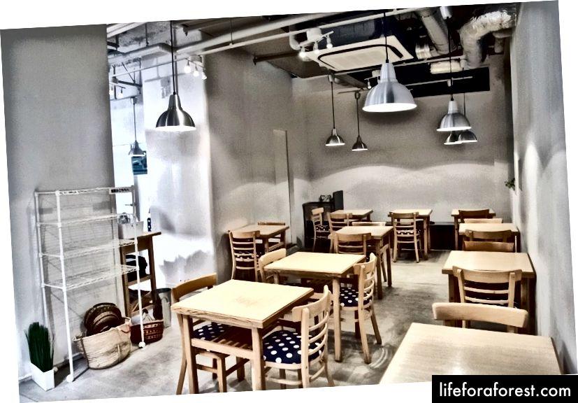 Ortak yemek odası, Komaki Syokudo, Akihabara, Tokyo. Resim Kaynağı: Komaki Shokudo.