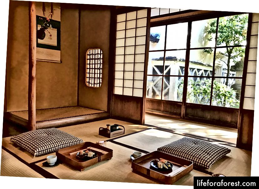 Takayama shahri, Gifu prefekturasi, Kakusho shahridagi maxsus xona. Rasm manbai: BbComeTrue Blog.