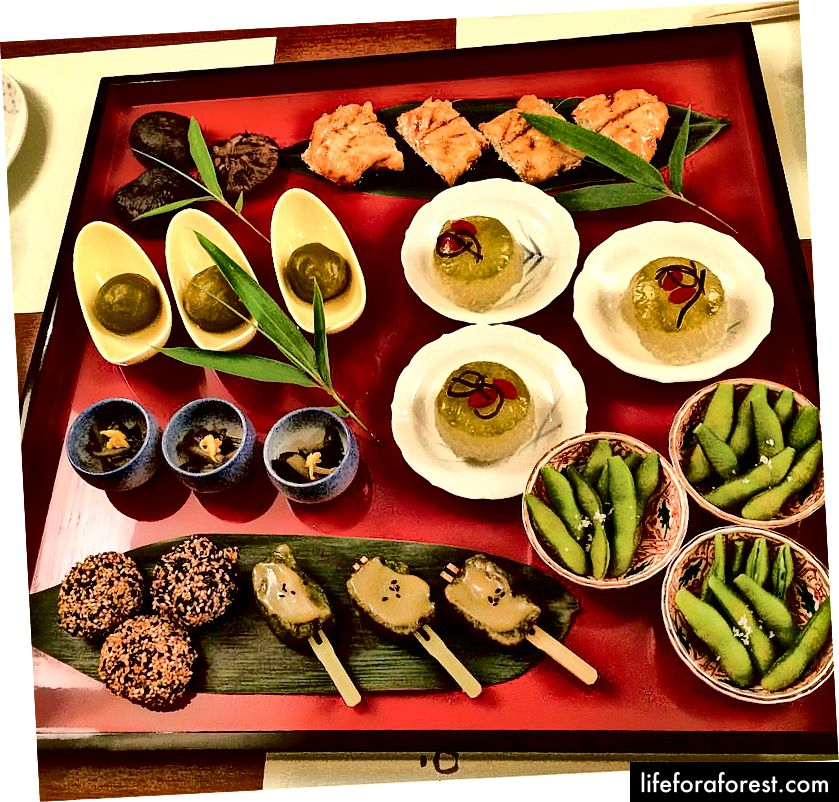 En vegansk spredning, SinSinTei, Chikusa, Nagoya City, Aichi Prefecture. Bildekilde: Angel Pallete via Instagram.