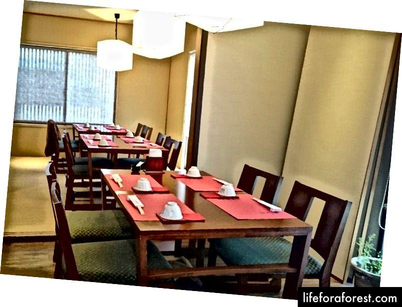 Felles spisestue, SinSinTei, Chikusa, Nagoya City, Aichi Prefecture. Bildekilde: Tabelog.