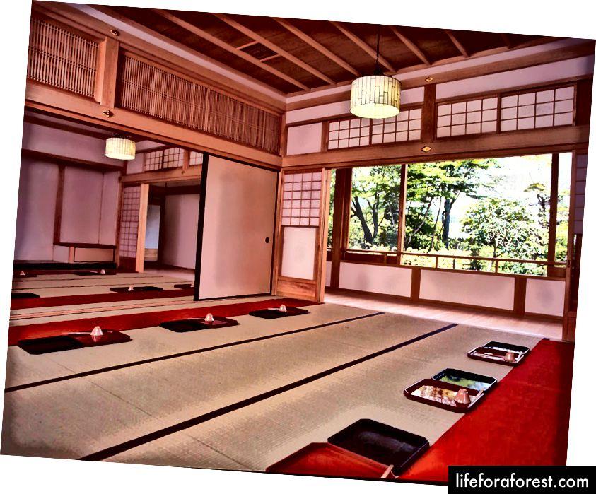 Felles spisestue, Tenryu Temple, Arashiyama, Kyoto. Bildekilde: Tenryu Temple.