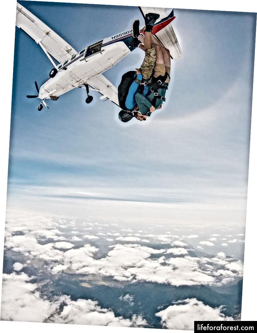 Viktor får adrenalinet sitt pumpende 14.000 fot over bakken!