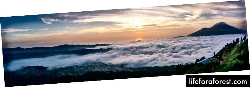 """""""İPhone'da Shot"""" böyle anlar için kesmiyor. Mt. Batur, Bali, Endonezya."""