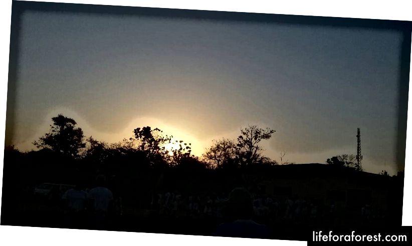 Захід сонця на Yikpata