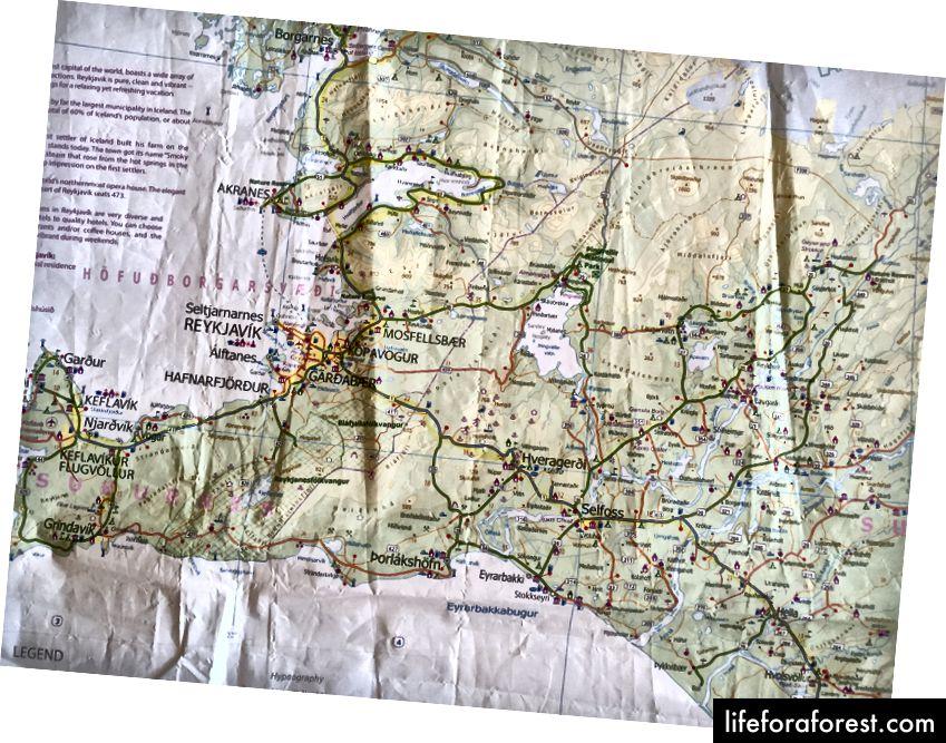 En livredder: Island Travel Reference Map fra ITMB Publishing LTD