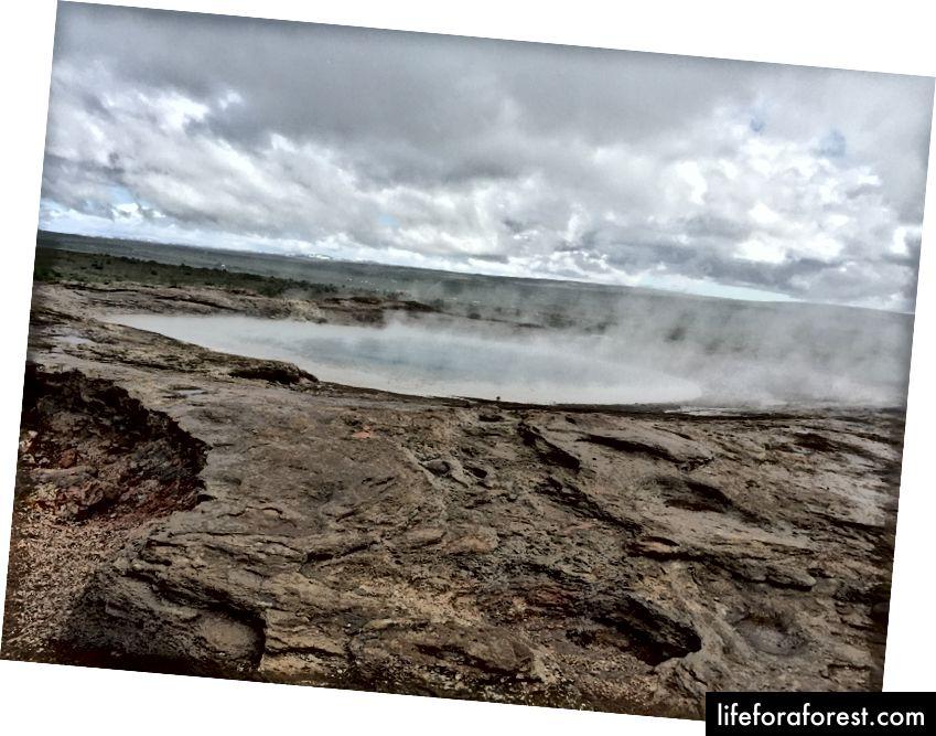 Mye varme fra Geysir, men ingen tiltak på denne dagen