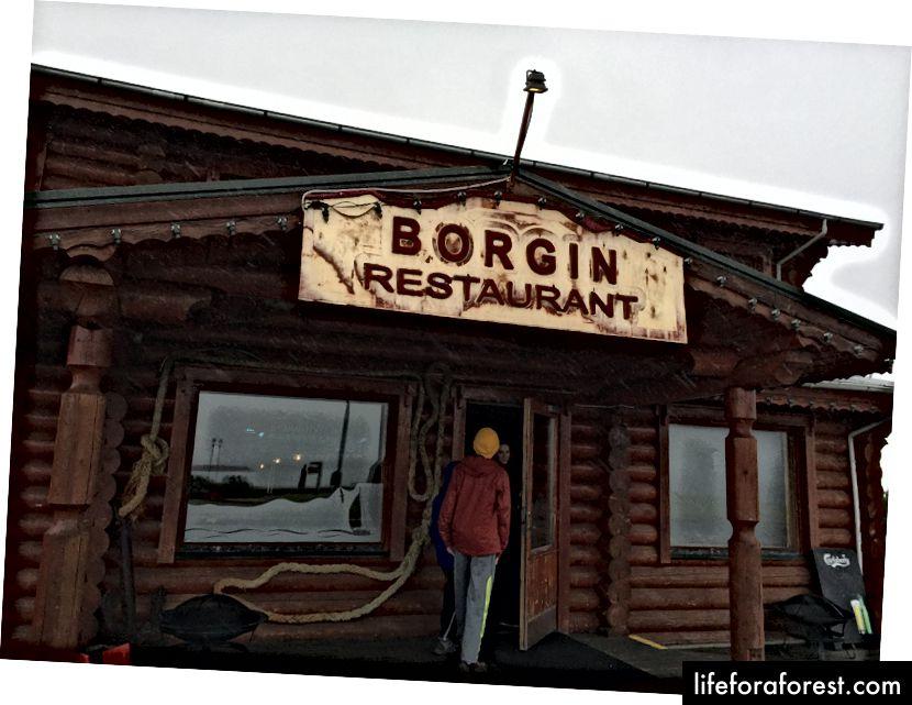 Inngangen til Borgin på Skagaströnd