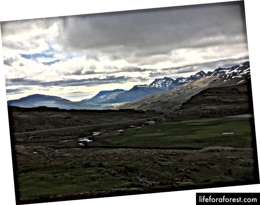 Utrolig natur på kjøreturen fra Egilsstaðir til Höfn