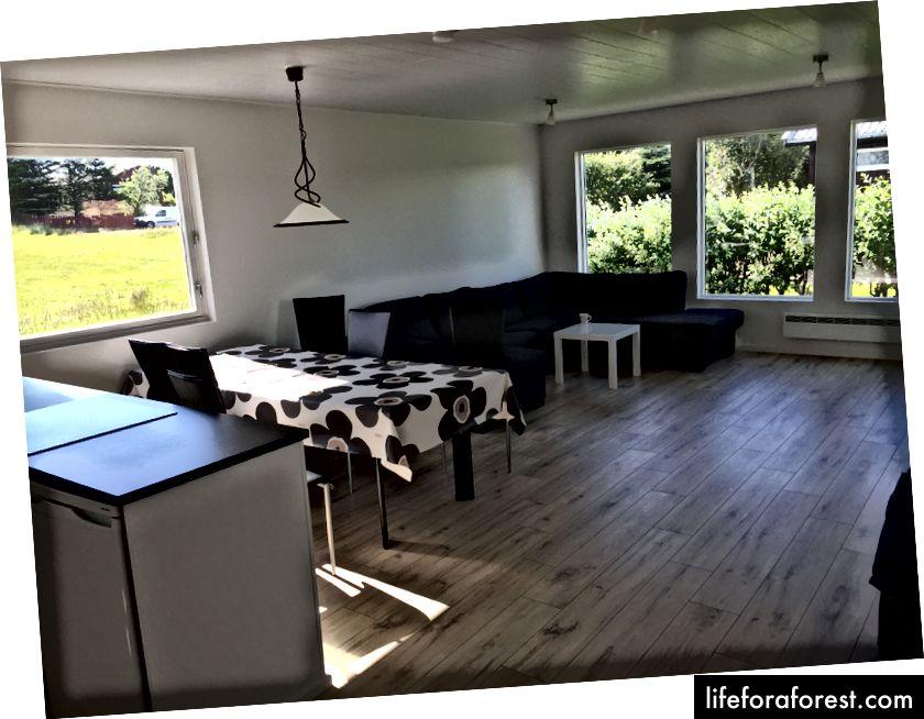 Inne i vår Airbnb i Höfn