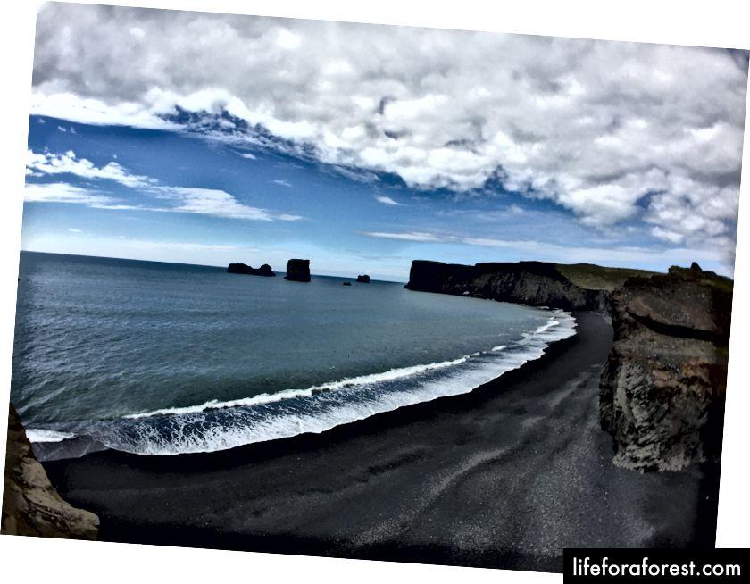 Ingen lundefugler på denne dagen, men en vakker utsikt over Dyrhólaey
