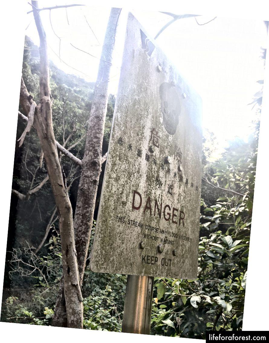 Semn spunând pericol, țineți-vă