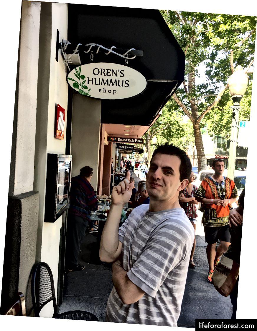 Orens găsind Hummus Shop al lui Oren: pag