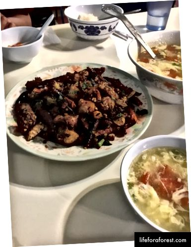 Mâncare din Hunan cu carne de iepure