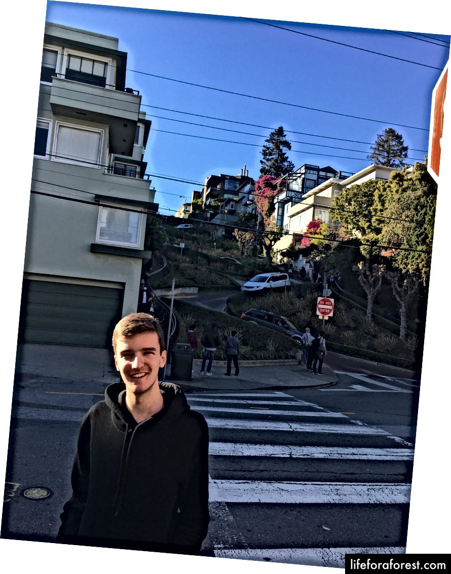Strada faimoasă din San Francisco!