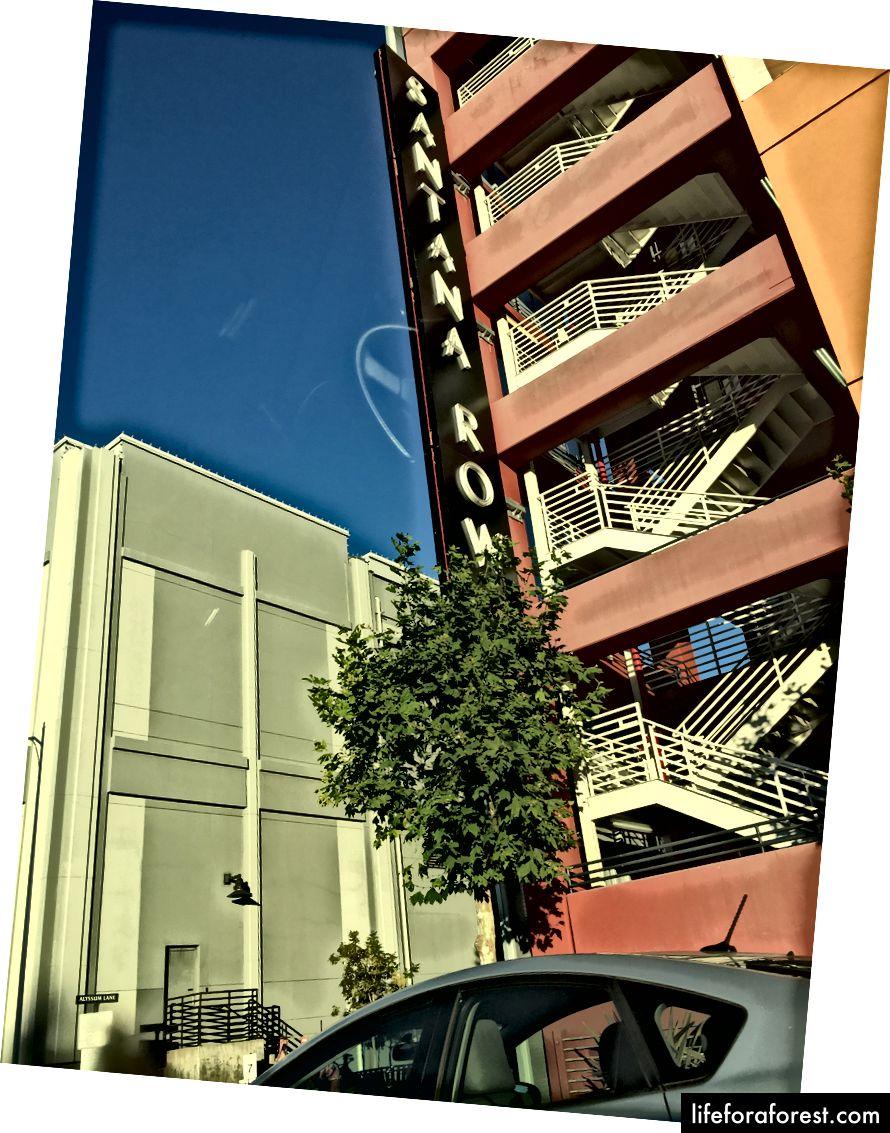 Santana Row garaj de parcare