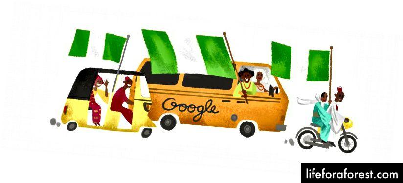 Doodle de Google pour la célébration de l'indépendance du Nigéria en 2017
