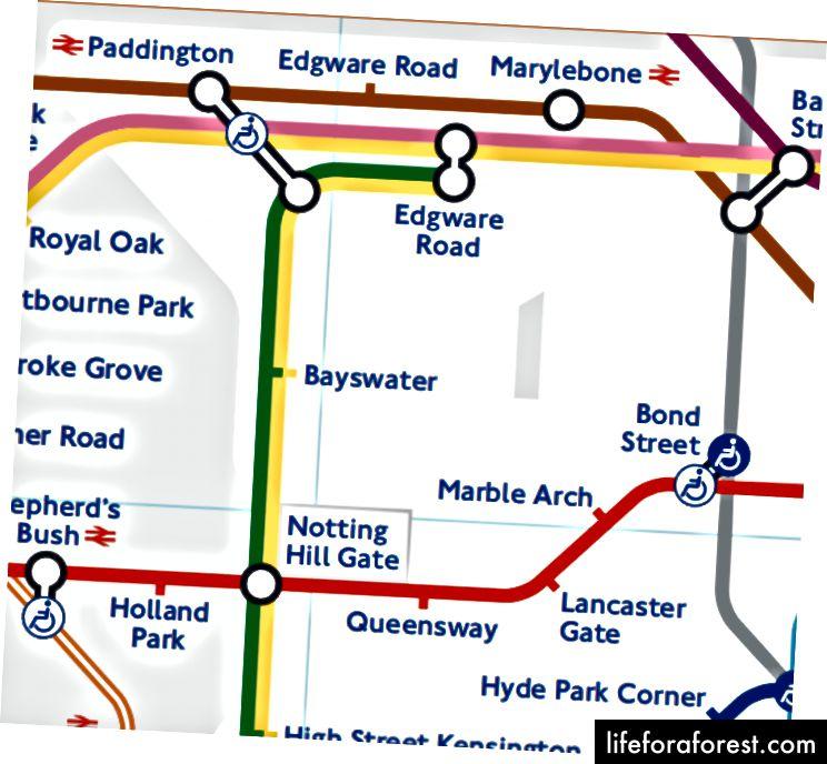 Ta röret från Lancaster Gate till Paddington - En mycket lång omväg